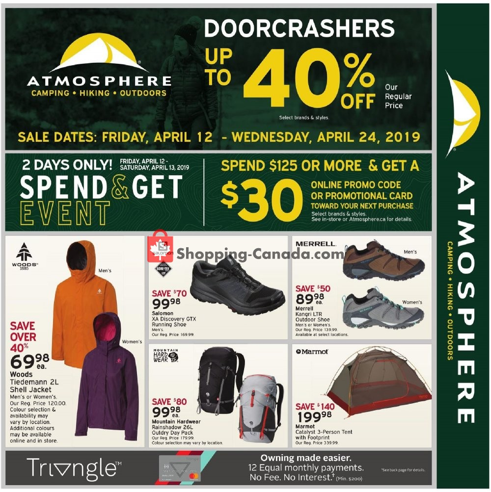 Flyer Atmosphere Canada - from Friday April 12, 2019 to Wednesday April 24, 2019