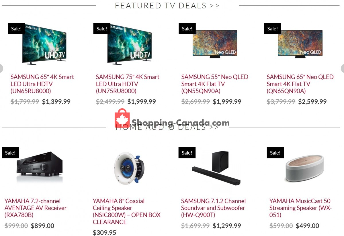 Flyer Audio Video Unlimited Canada - from Wednesday October 6, 2021 to Tuesday October 12, 2021