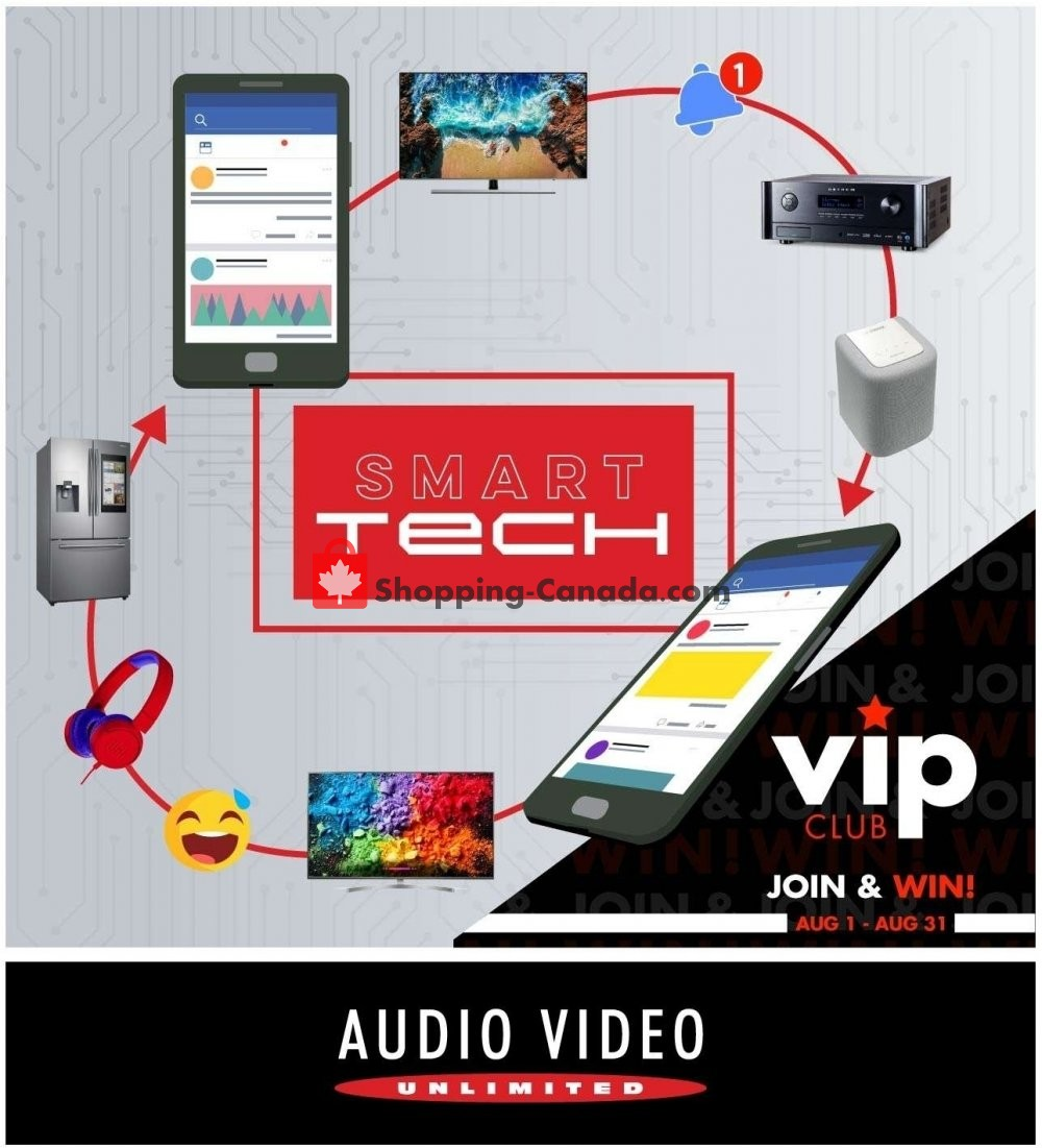 Flyer Audio Video Unlimited Canada - from Thursday August 1, 2019 to Saturday August 31, 2019