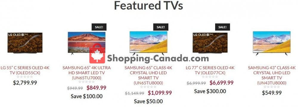 Flyer Audio Video Unlimited Canada - from Wednesday June 3, 2020 to Tuesday June 9, 2020
