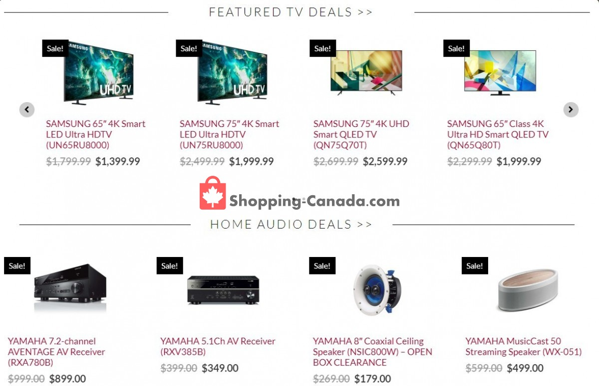 Flyer Audio Video Unlimited Canada - from Tuesday September 7, 2021 to Monday September 13, 2021