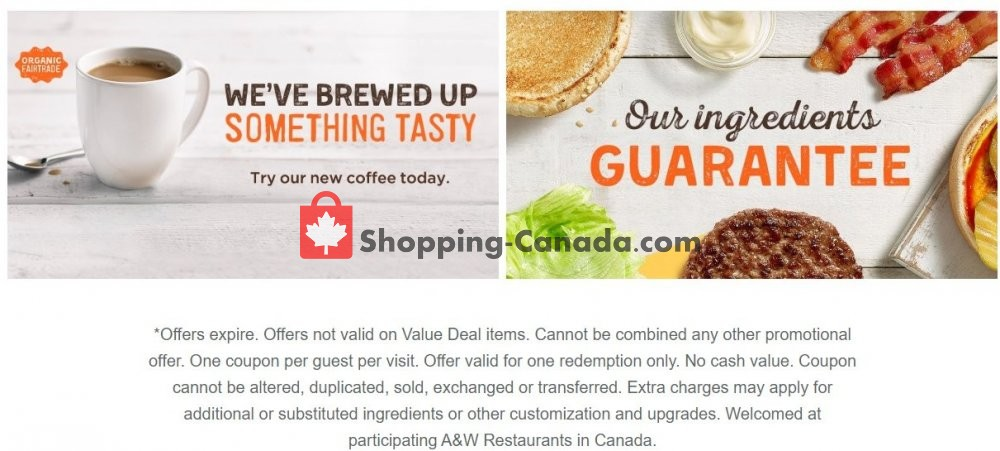 Flyer A&W Canada - from Monday April 27, 2020 to Sunday May 3, 2020