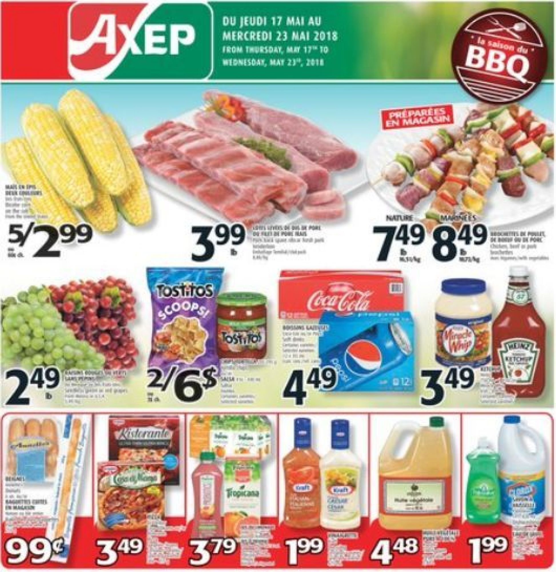 Flyer Axep Canada - from Thursday May 17, 2018 to Wednesday May 23, 2018