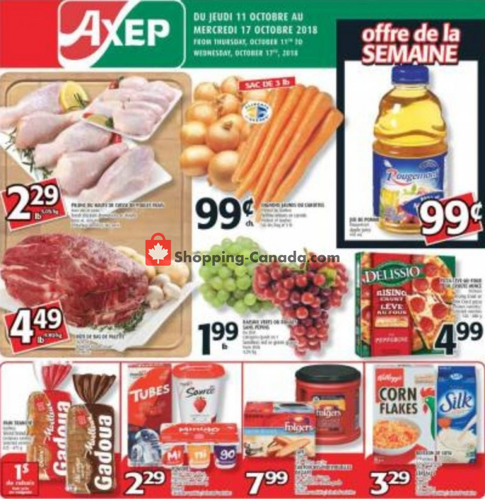 Flyer Axep Canada - from Thursday October 11, 2018 to Wednesday October 17, 2018