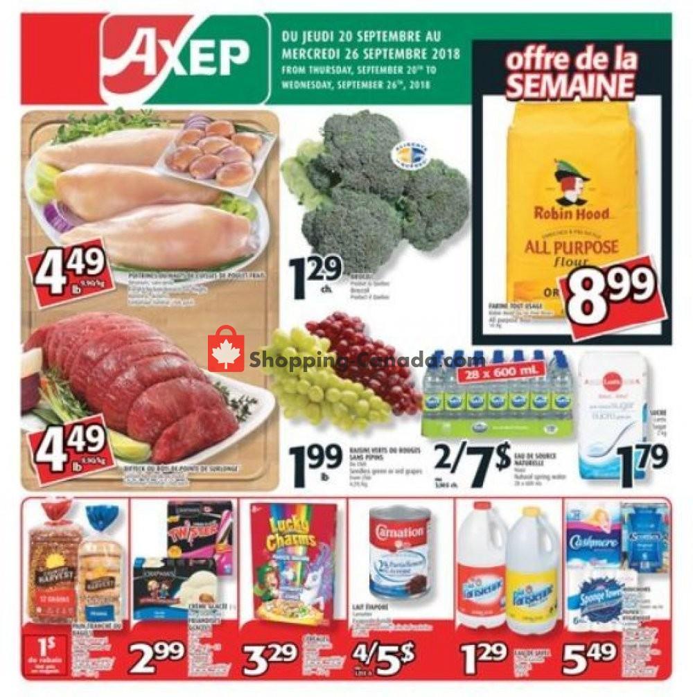 Flyer Axep Canada - from Thursday September 20, 2018 to Wednesday September 26, 2018