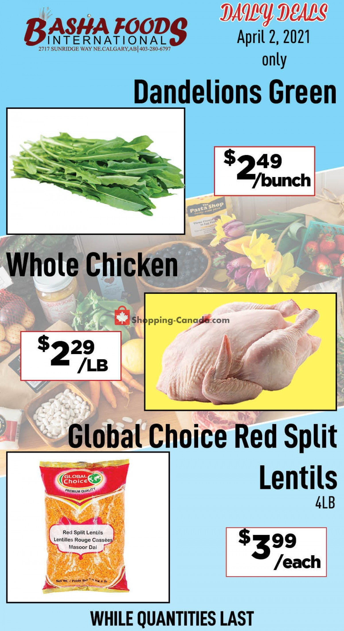 Flyer Basha Foods International Canada - from Friday April 2, 2021 to Friday April 2, 2021