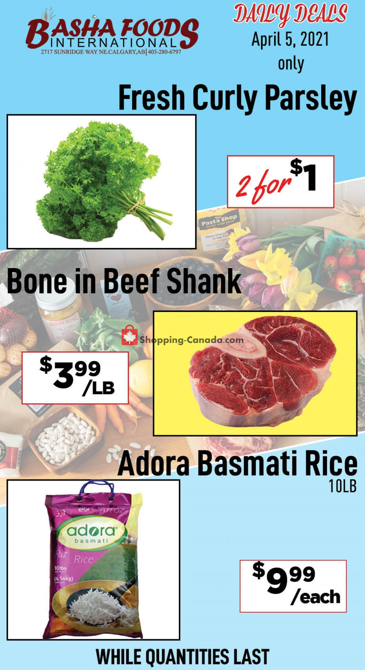 Flyer Basha Foods International Canada - from Monday April 5, 2021 to Monday April 5, 2021