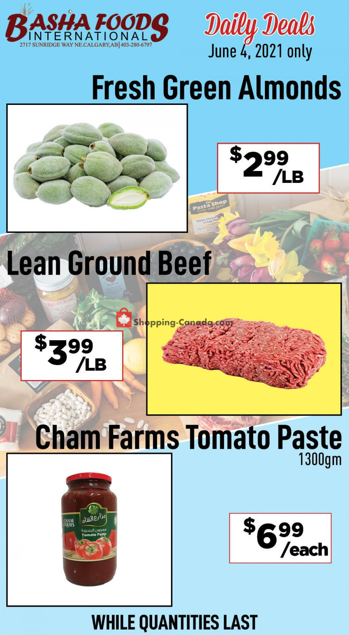 Flyer Basha Foods International Canada - from Friday June 4, 2021 to Friday June 4, 2021