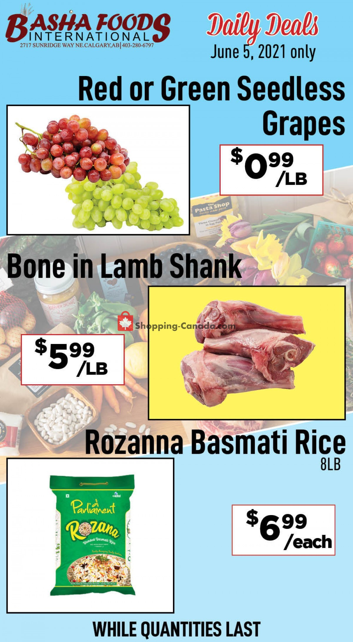 Flyer Basha Foods International Canada - from Saturday June 5, 2021 to Saturday June 5, 2021