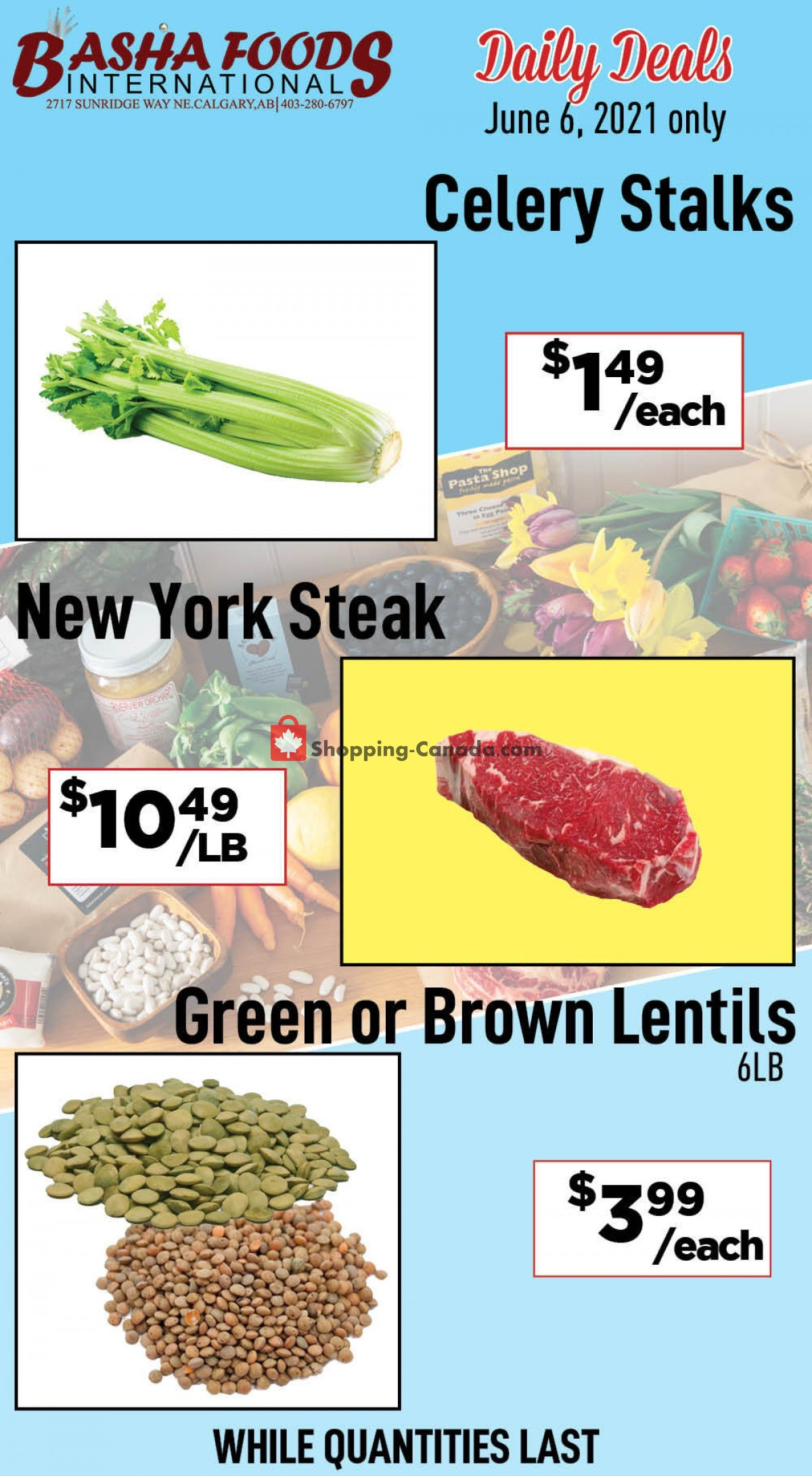 Flyer Basha Foods International Canada - from Sunday June 6, 2021 to Sunday June 6, 2021
