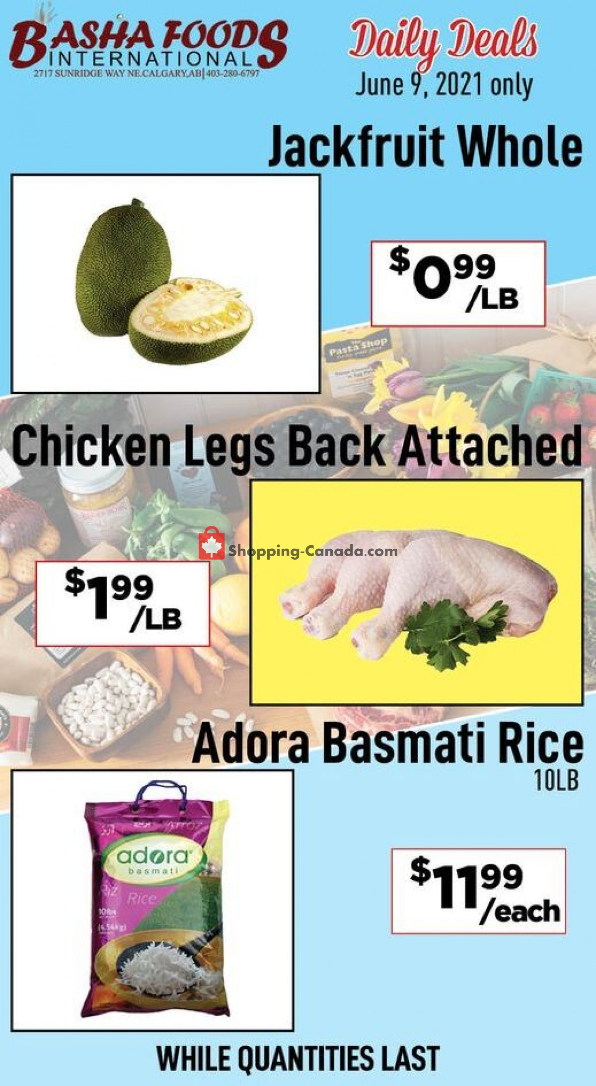 Flyer Basha Foods International Canada - from Wednesday June 9, 2021 to Wednesday June 9, 2021