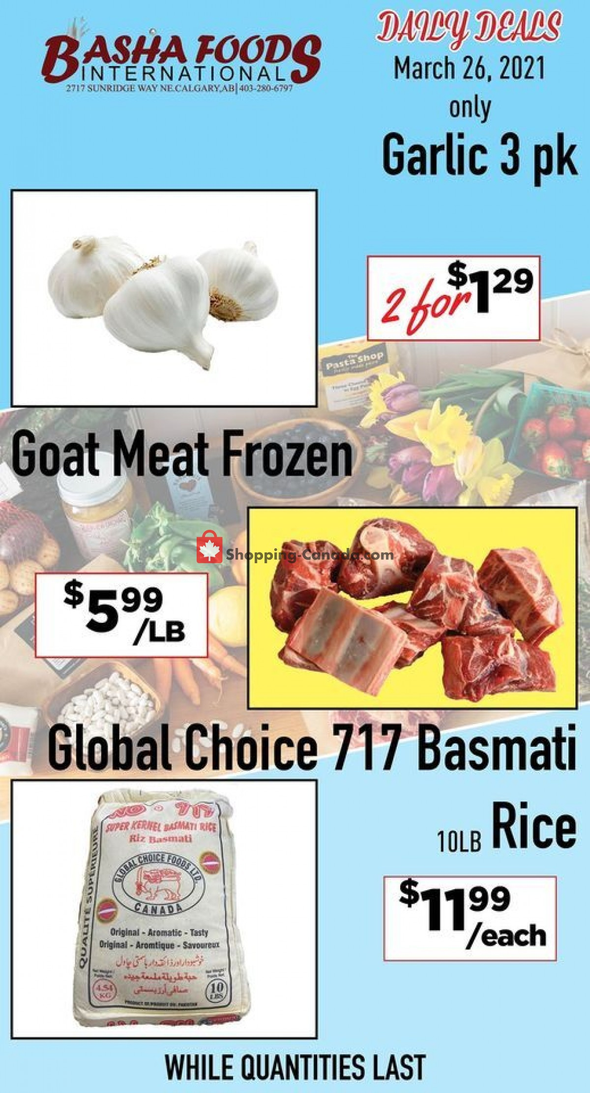 Flyer Basha Foods International Canada - from Friday March 26, 2021 to Friday March 26, 2021