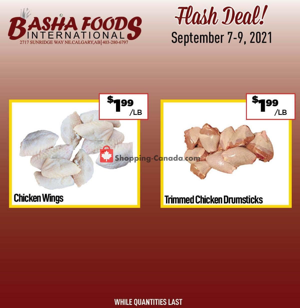 Flyer Basha Foods International Canada - from Tuesday September 7, 2021 to Thursday September 9, 2021