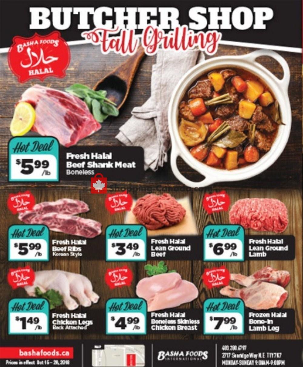 Flyer Basha Foods International Canada - from Monday October 15, 2018 to Sunday October 28, 2018