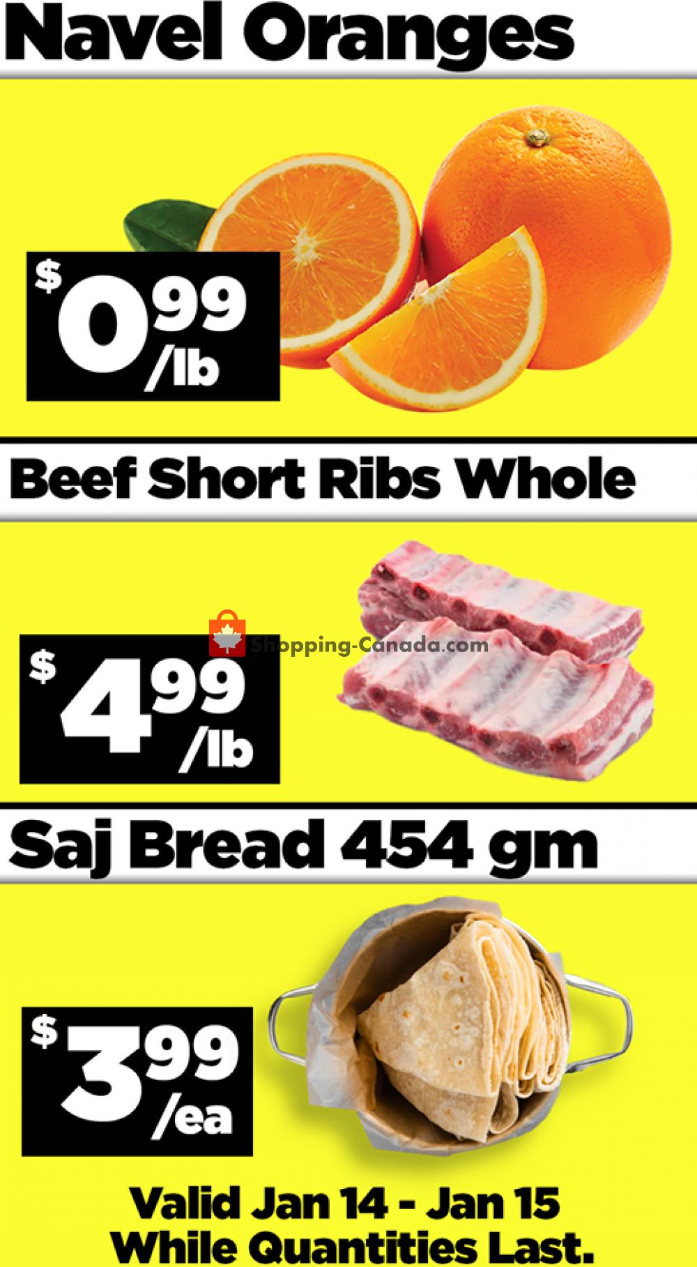 Flyer Basha Foods International Canada - from Thursday January 14, 2021 to Friday January 15, 2021