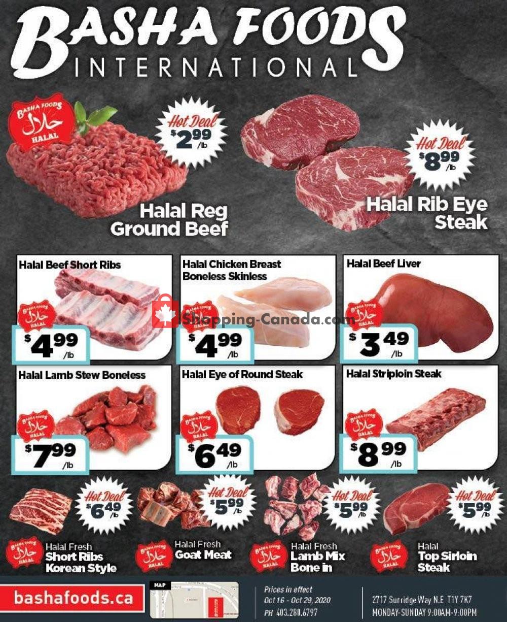 Flyer Basha Foods International Canada - from Friday October 16, 2020 to Thursday October 29, 2020