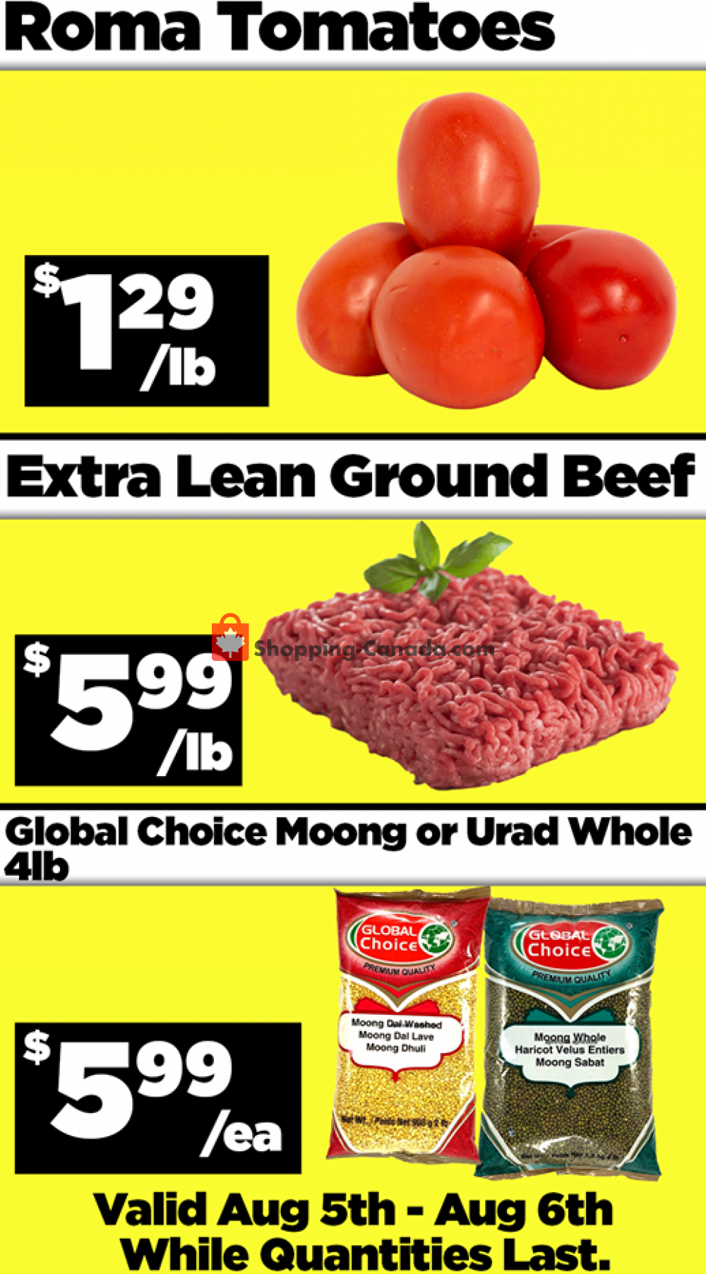 Flyer Basha Foods International Canada - from Wednesday August 5, 2020 to Thursday August 6, 2020