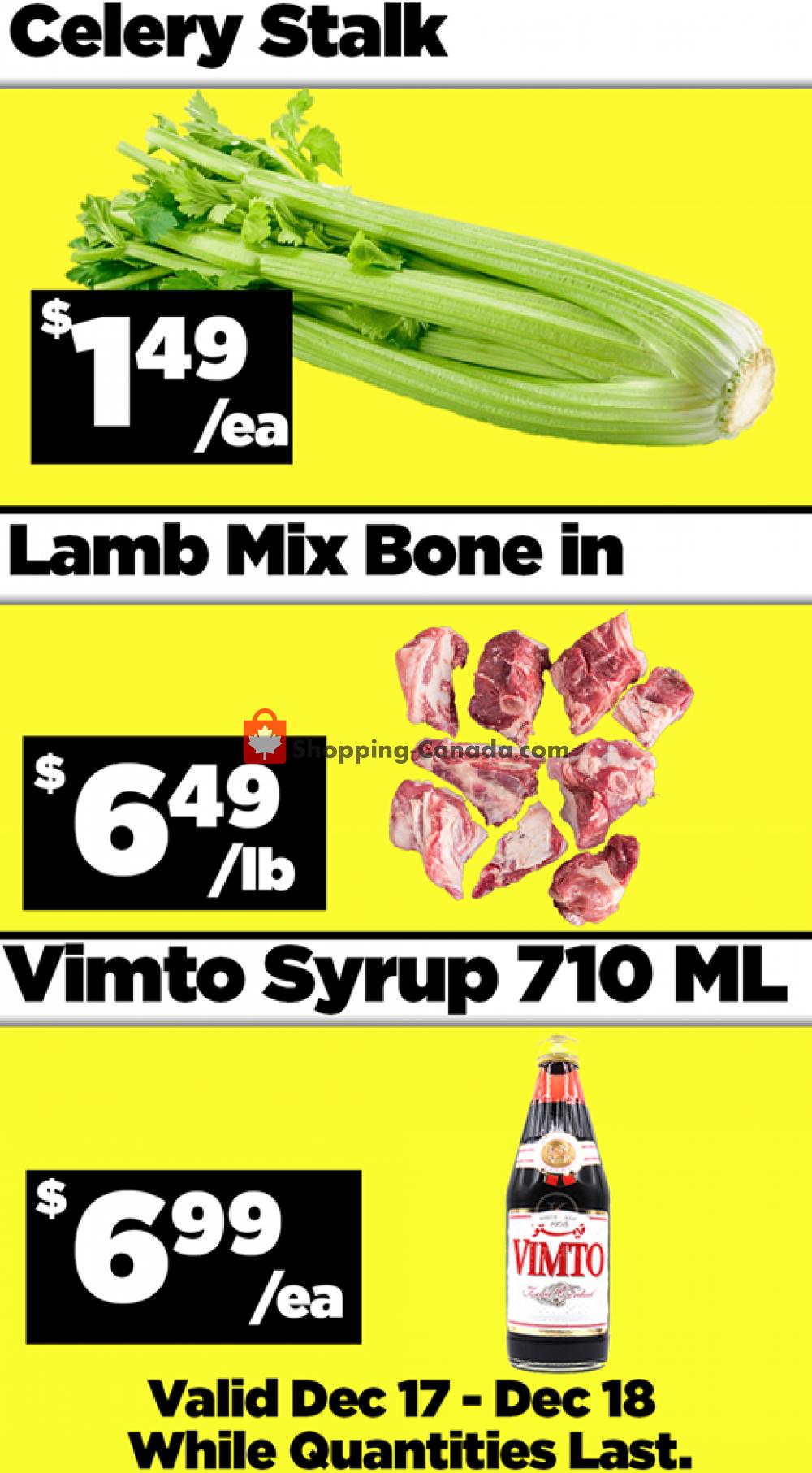 Flyer Basha Foods International Canada - from Thursday December 17, 2020 to Friday December 18, 2020