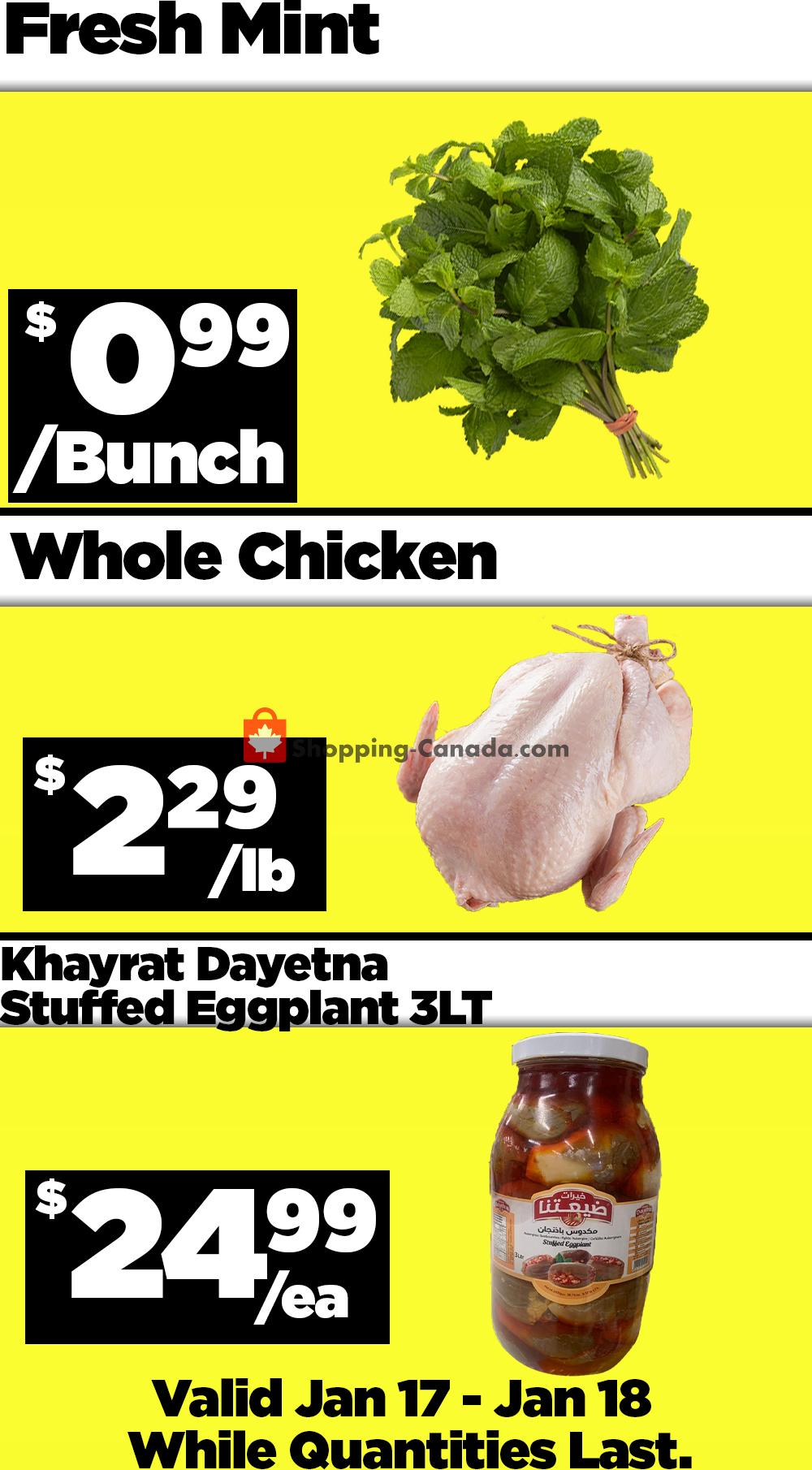 Flyer Basha Foods International Canada - from Sunday January 17, 2021 to Monday January 18, 2021