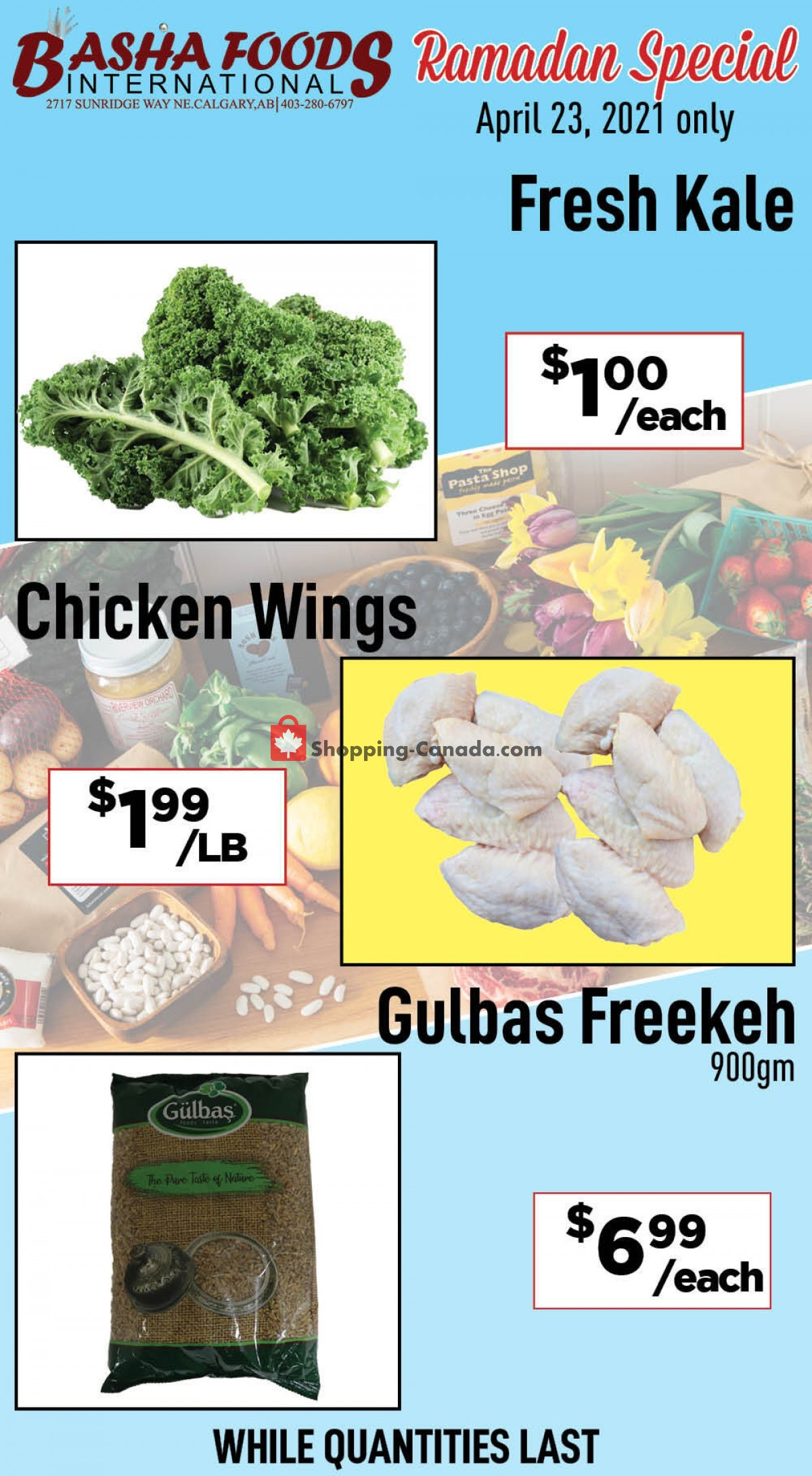 Flyer Basha Foods International Canada - from Friday April 23, 2021 to Friday April 23, 2021