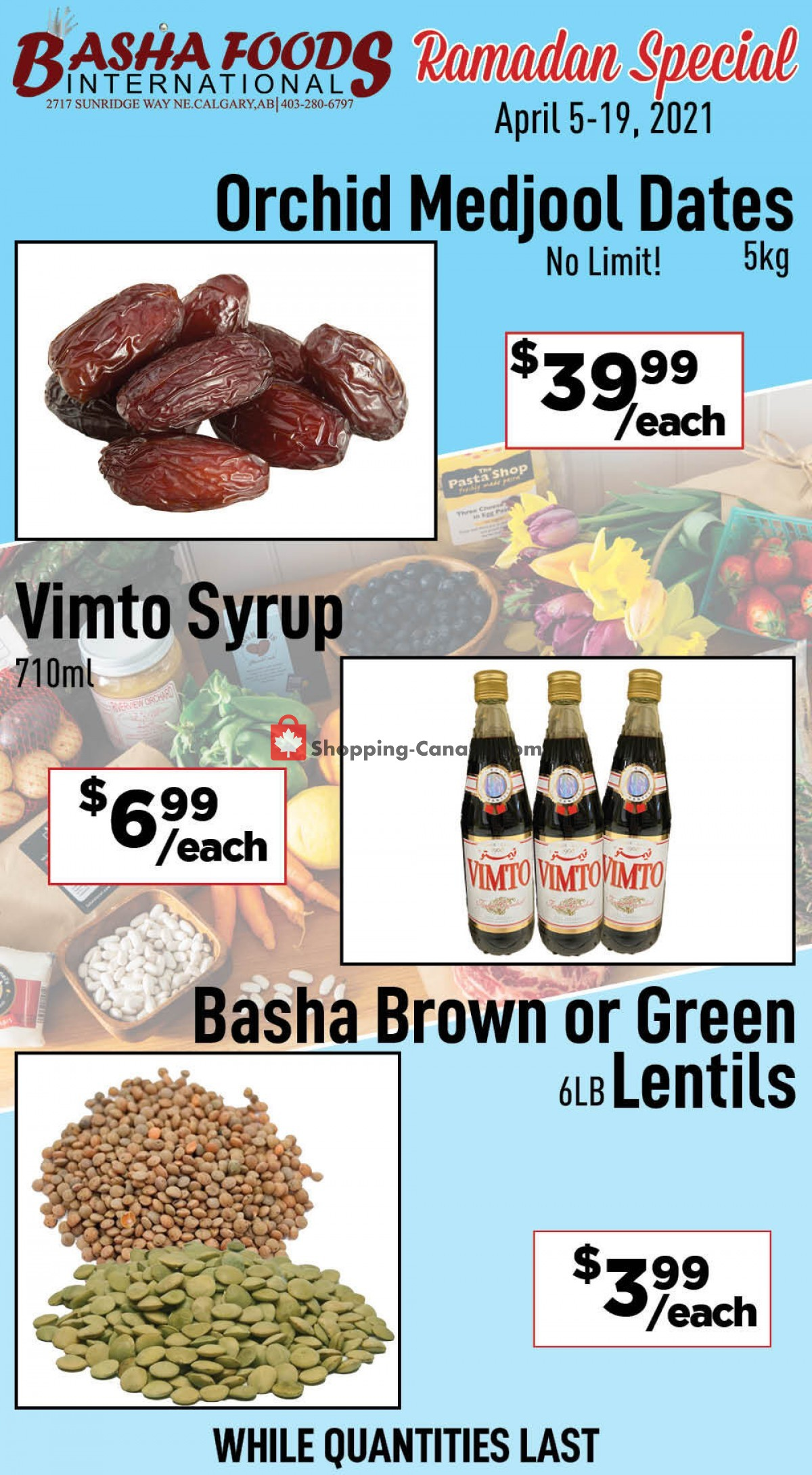 Flyer Basha Foods International Canada - from Monday April 5, 2021 to Monday April 19, 2021