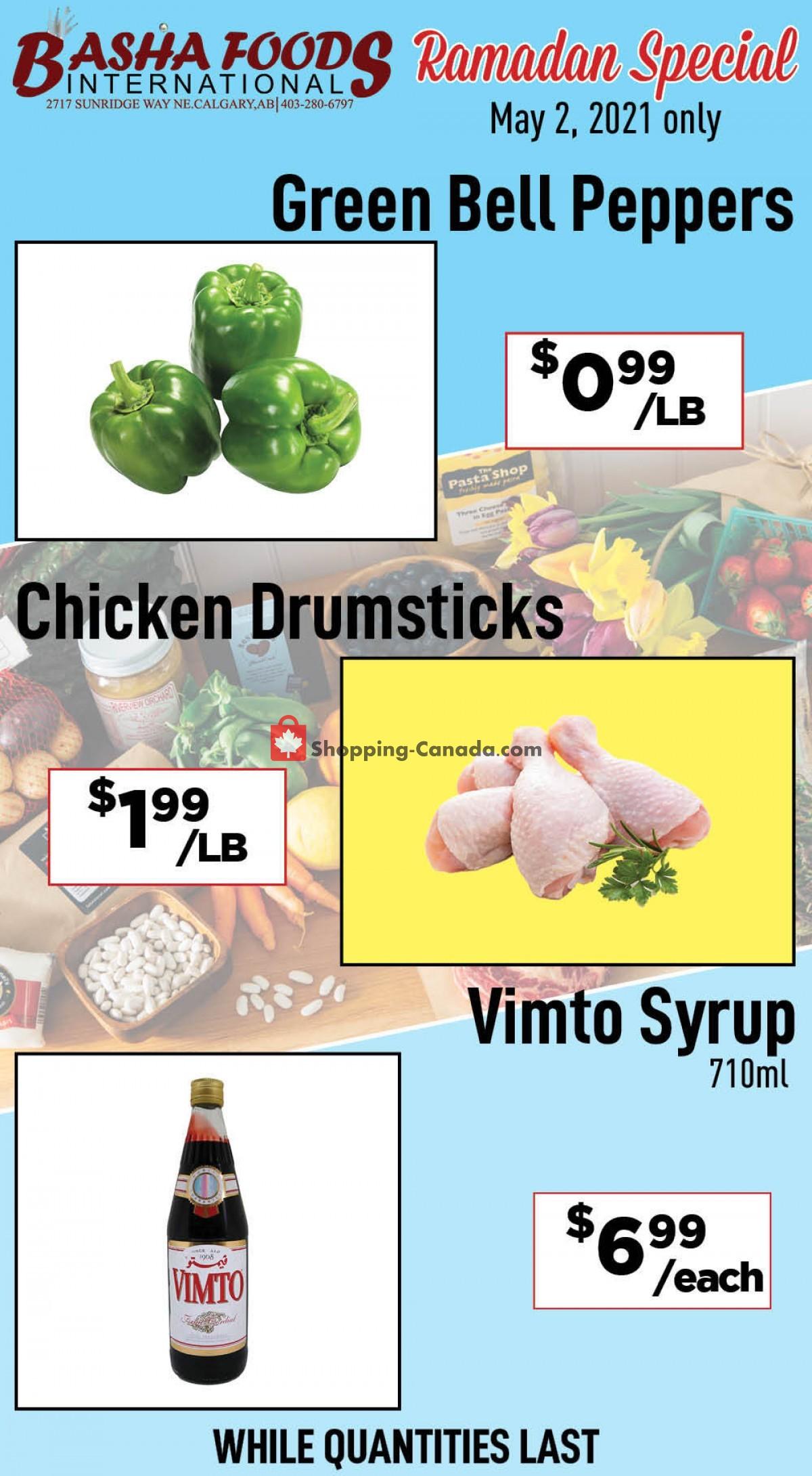 Flyer Basha Foods International Canada - from Sunday May 2, 2021 to Sunday May 2, 2021