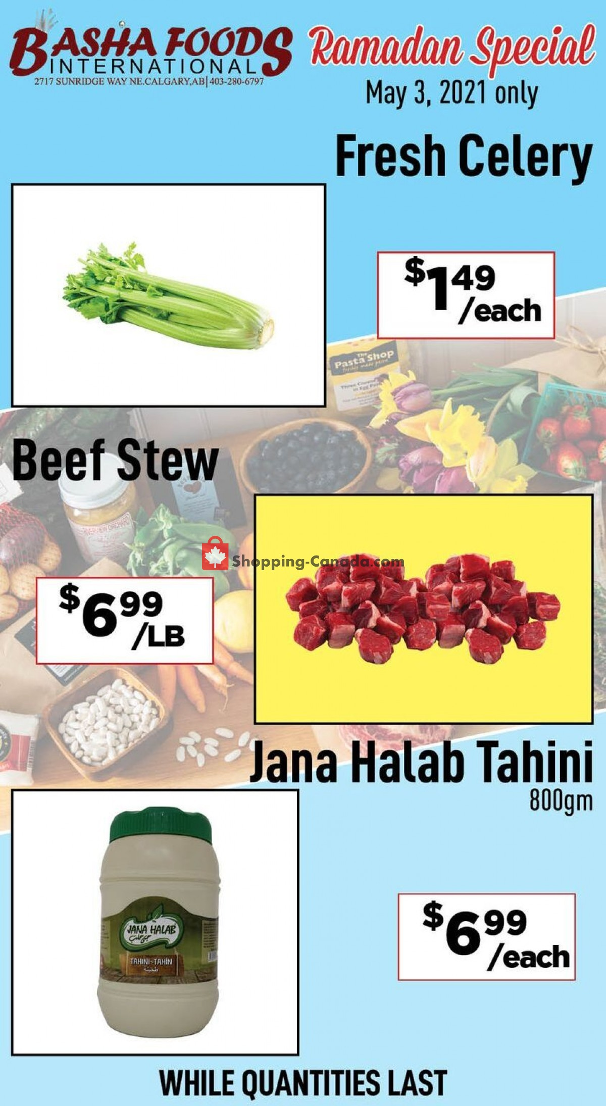 Flyer Basha Foods International Canada - from Monday May 3, 2021 to Monday May 3, 2021