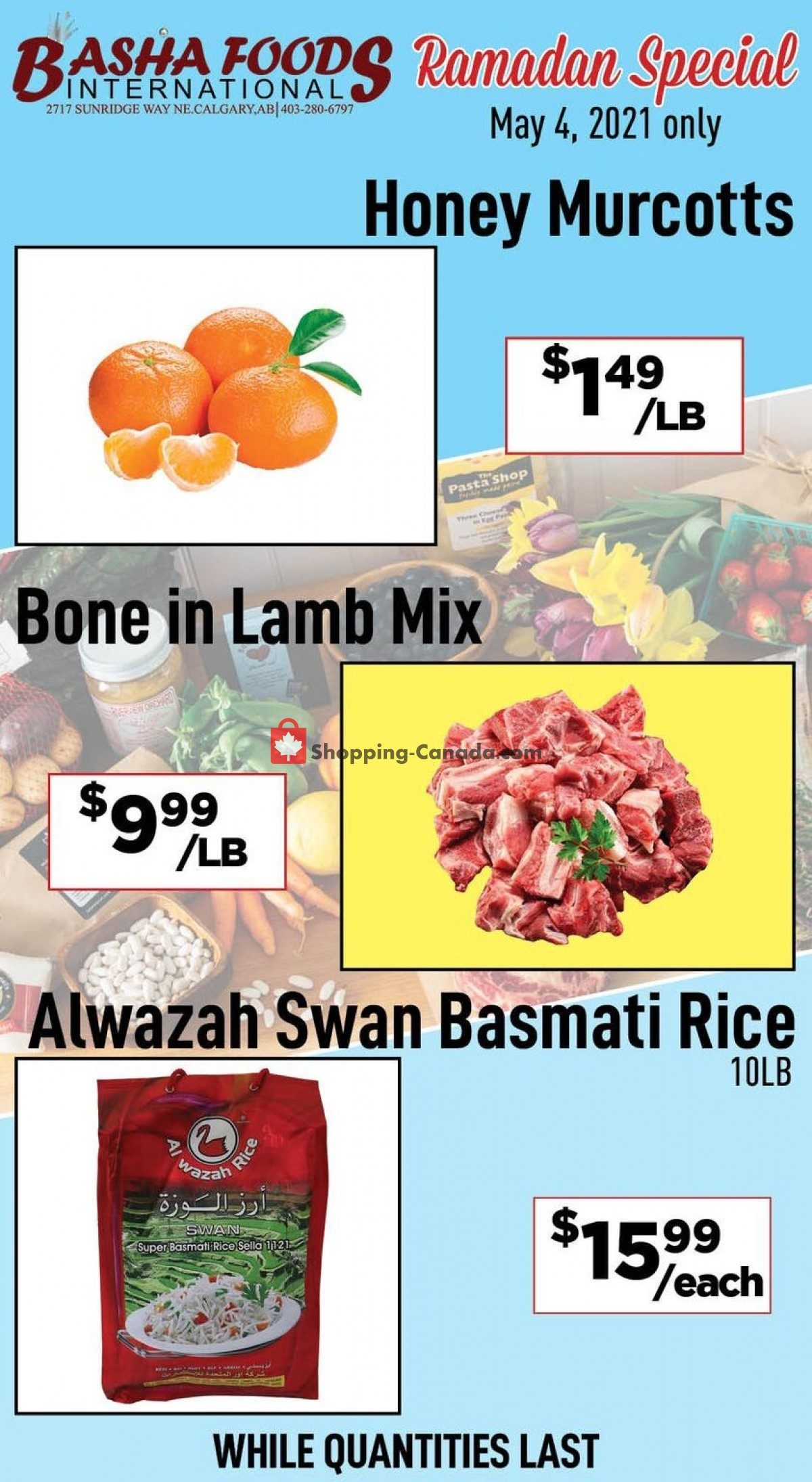 Flyer Basha Foods International Canada - from Tuesday May 4, 2021 to Tuesday May 4, 2021