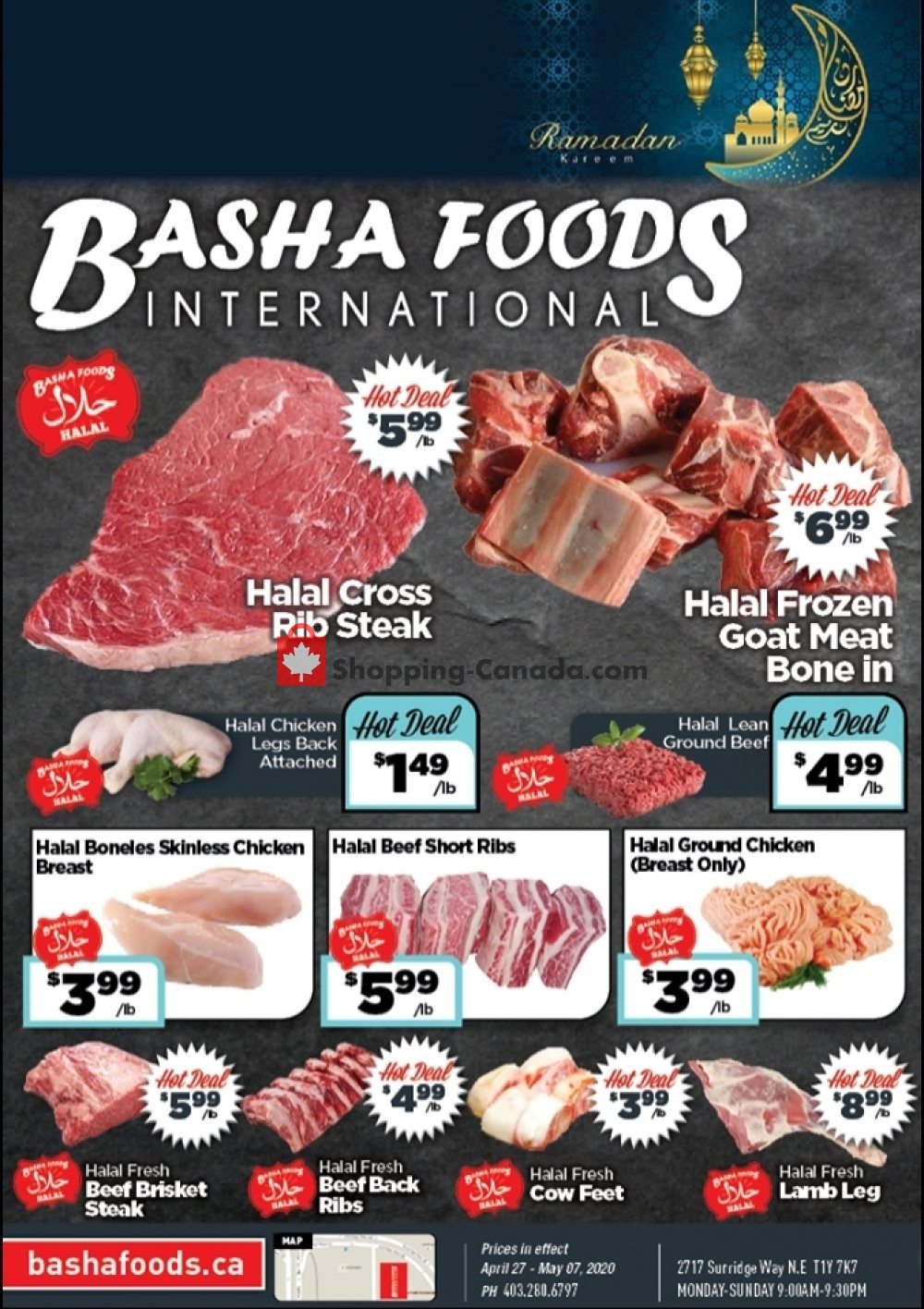 Flyer Basha Foods International Canada - from Monday April 27, 2020 to Thursday May 7, 2020