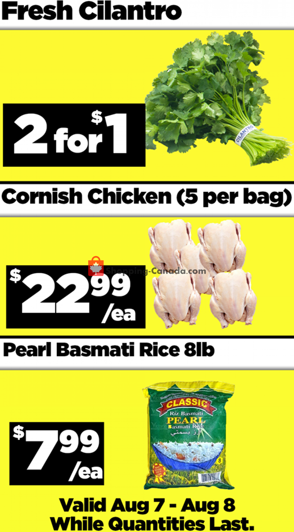 Flyer Basha Foods International Canada - from Friday August 7, 2020 to Saturday August 8, 2020