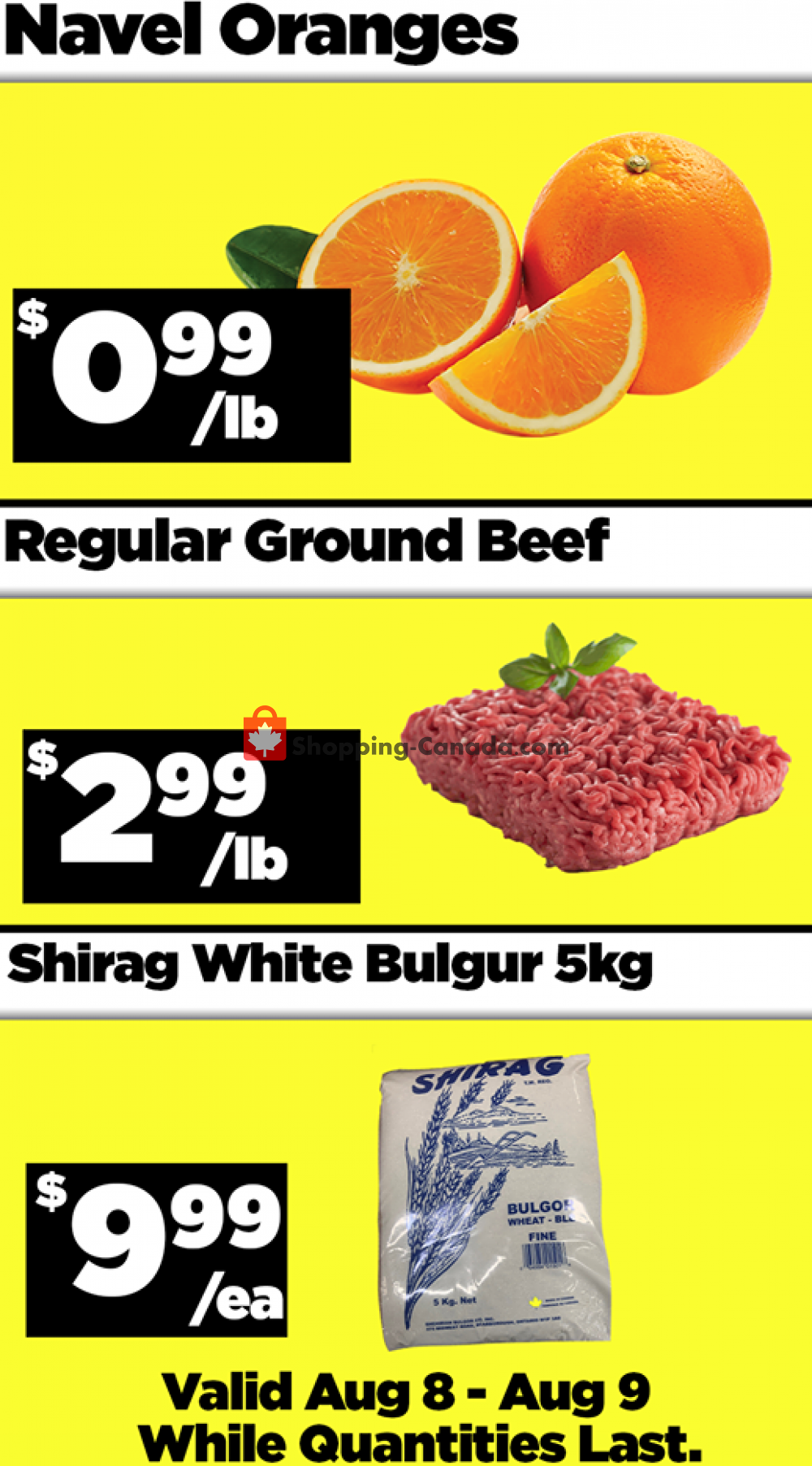 Flyer Basha Foods International Canada - from Saturday August 8, 2020 to Sunday August 9, 2020