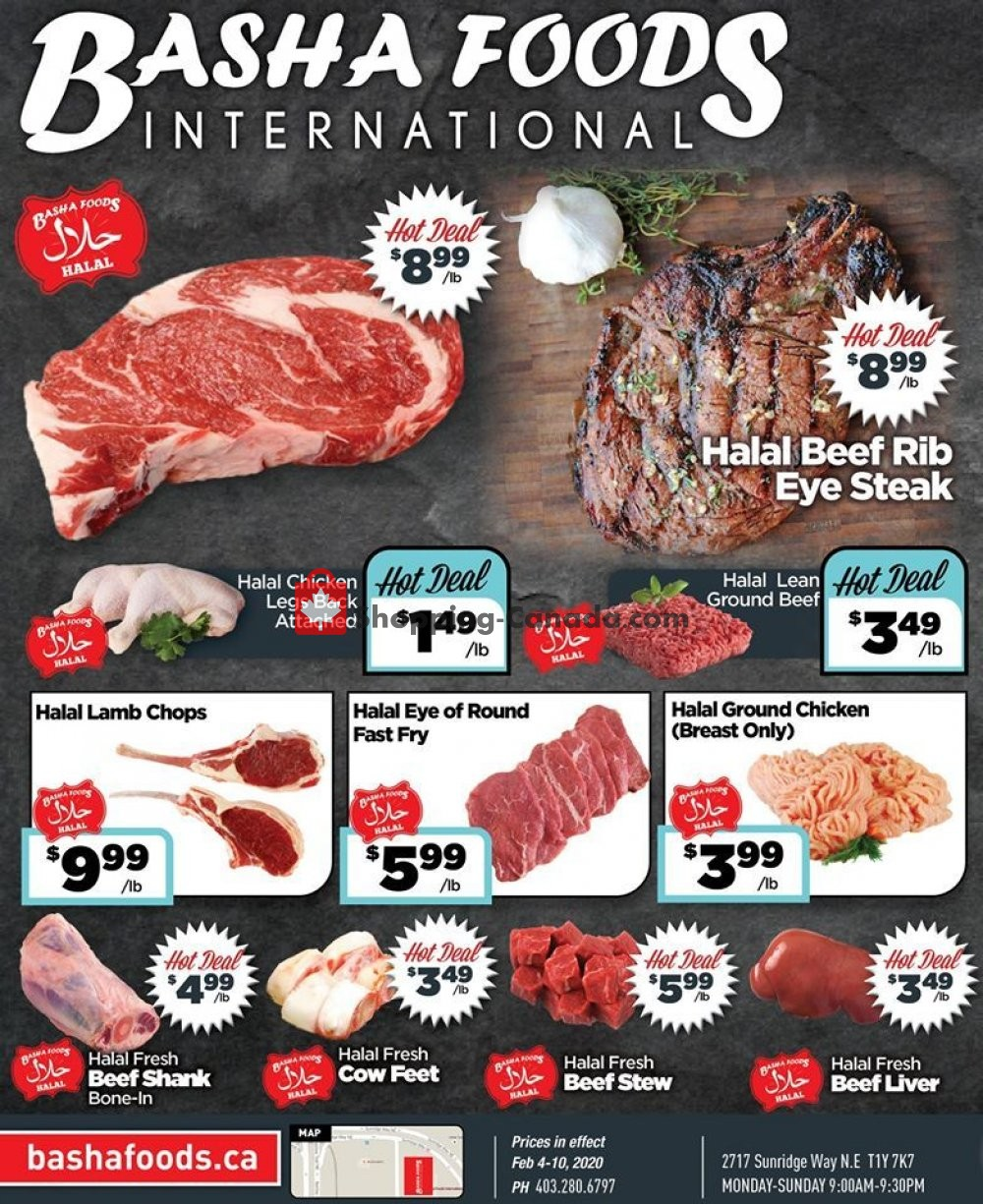Flyer Basha Foods International Canada - from Tuesday February 4, 2020 to Monday February 10, 2020