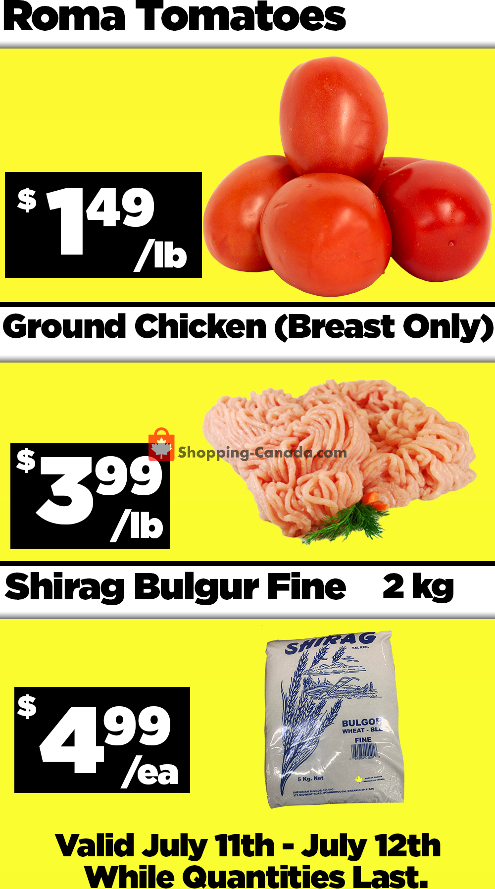 Flyer Basha Foods International Canada - from Saturday July 11, 2020 to Sunday July 12, 2020