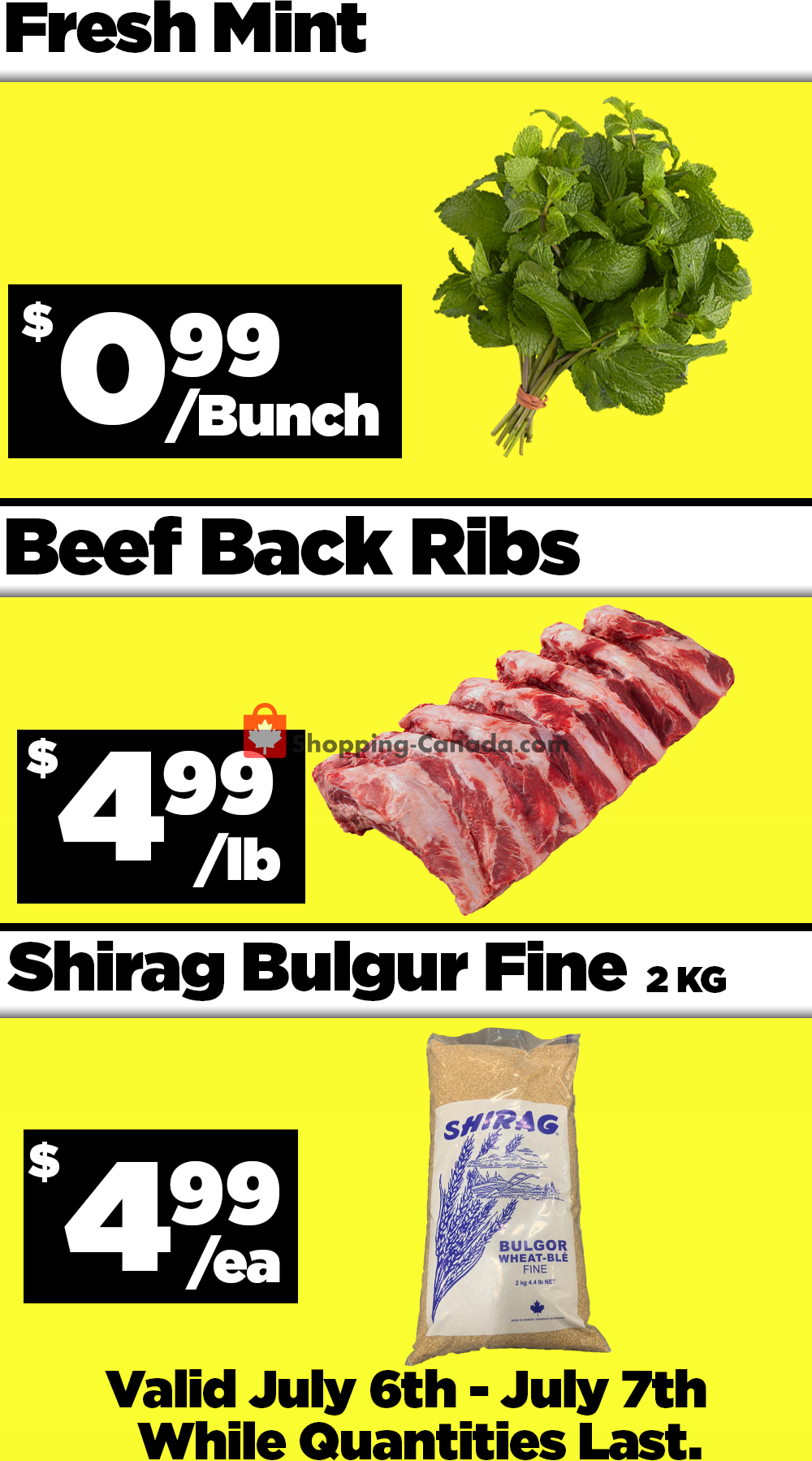 Flyer Basha Foods International Canada - from Monday July 6, 2020 to Tuesday July 7, 2020