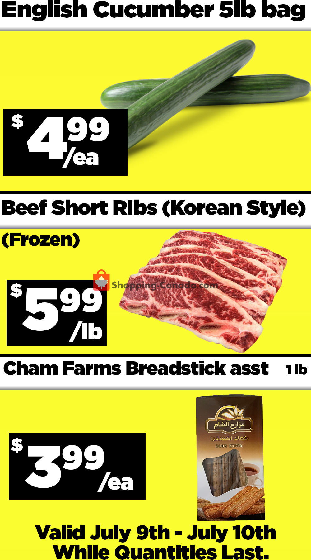 Flyer Basha Foods International Canada - from Thursday July 9, 2020 to Friday July 10, 2020