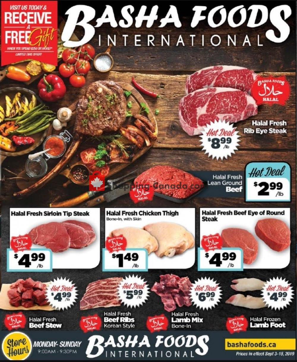 Flyer Basha Foods International Canada - from Tuesday September 3, 2019 to Sunday September 15, 2019
