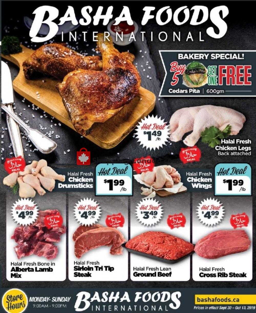 Flyer Basha Foods International Canada - from Monday September 30, 2019 to Sunday October 13, 2019