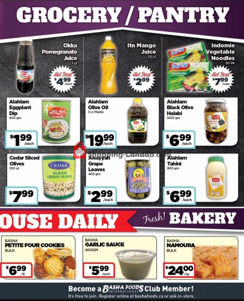 Flyer Basha Foods International Canada - from Monday July 22, 2019 to Sunday August 4, 2019