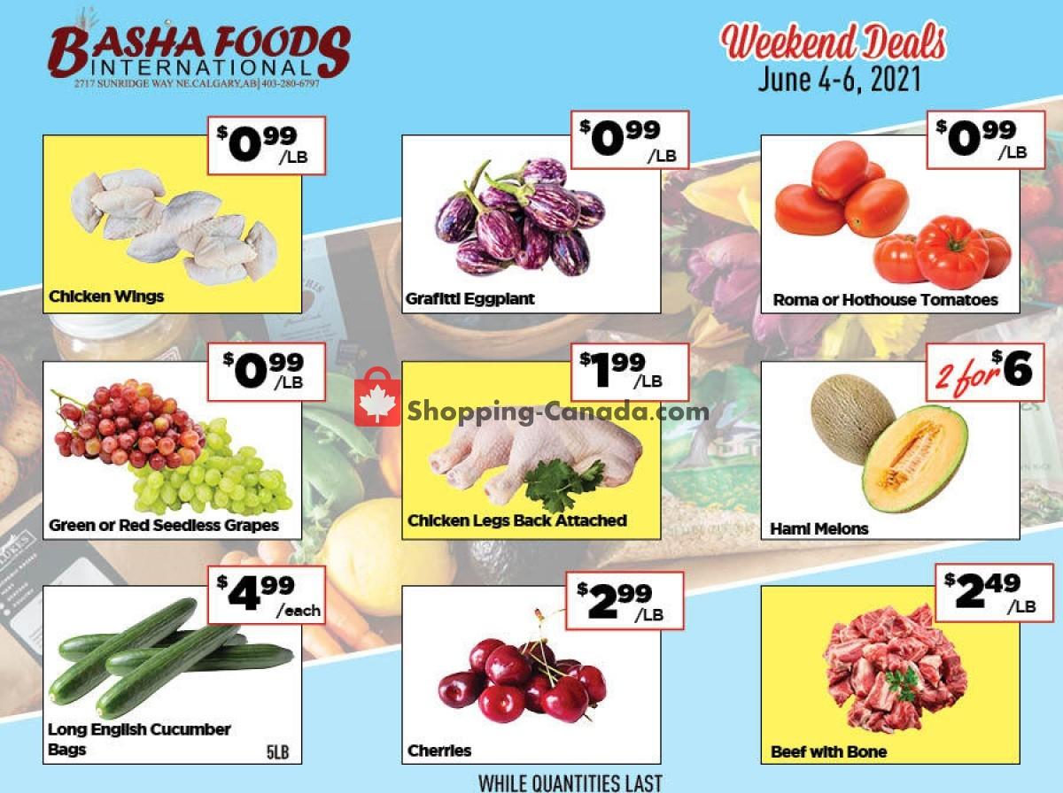 Flyer Basha Foods International Canada - from Friday June 4, 2021 to Sunday June 6, 2021