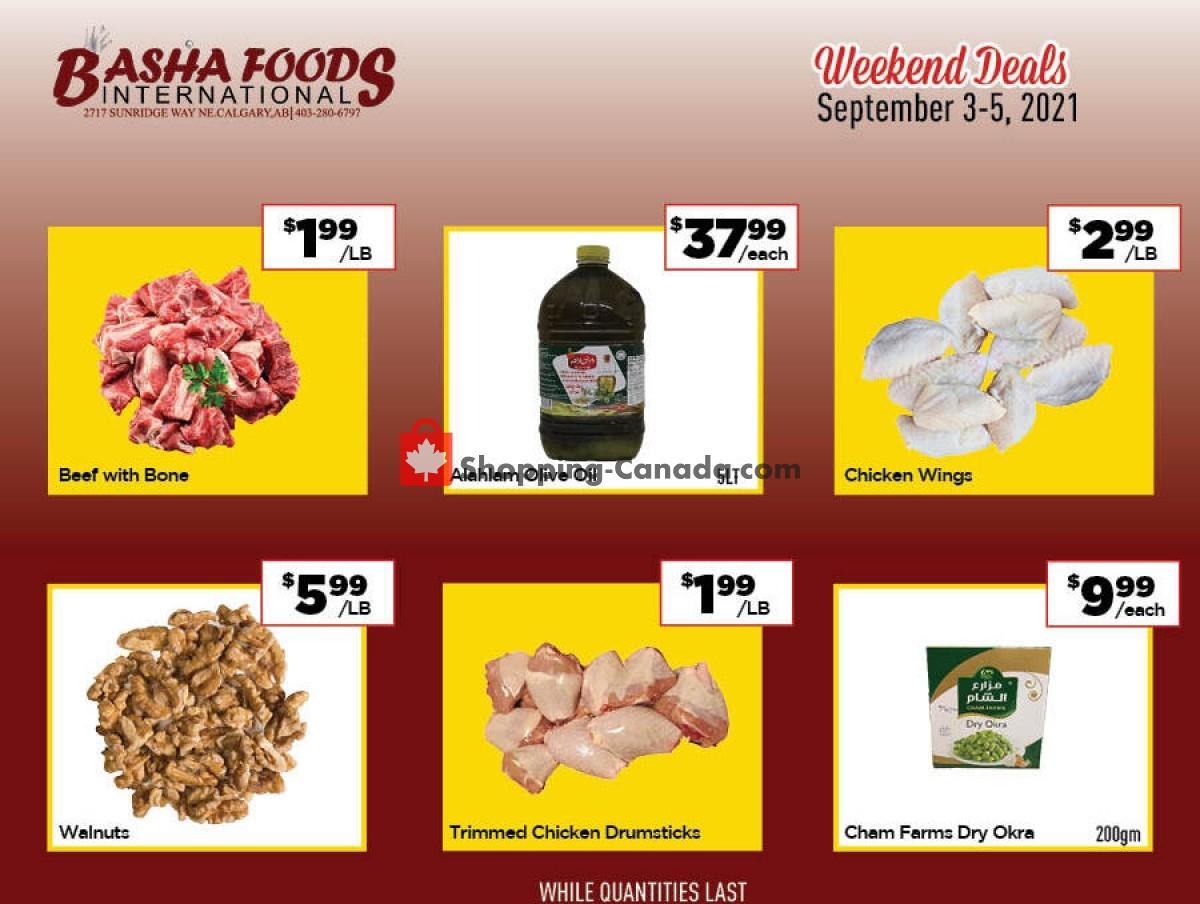 Flyer Basha Foods International Canada - from Friday September 3, 2021 to Sunday September 5, 2021