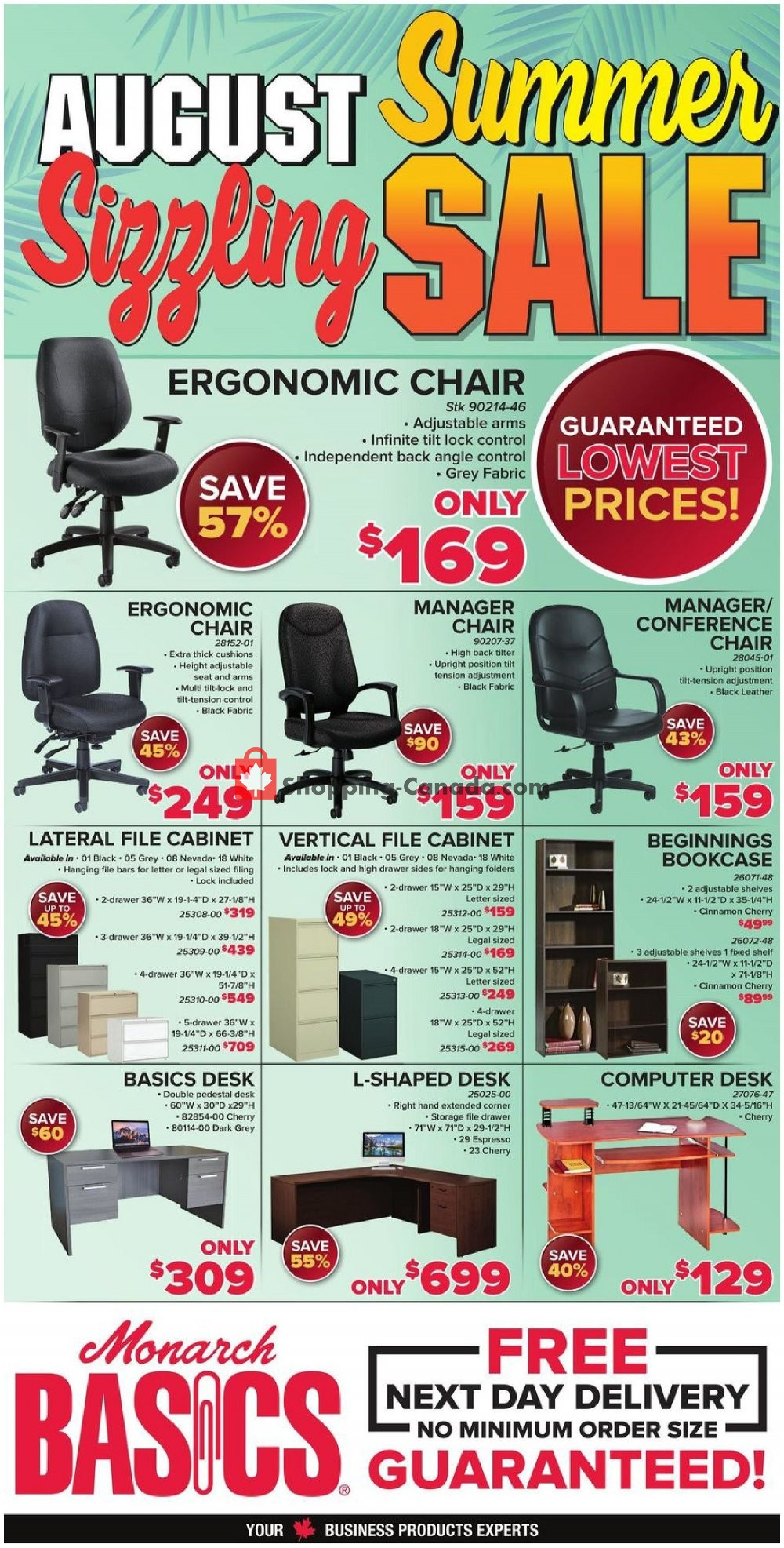 Flyer Basics Office Products Canada - from Wednesday August 7, 2019 to Saturday August 31, 2019