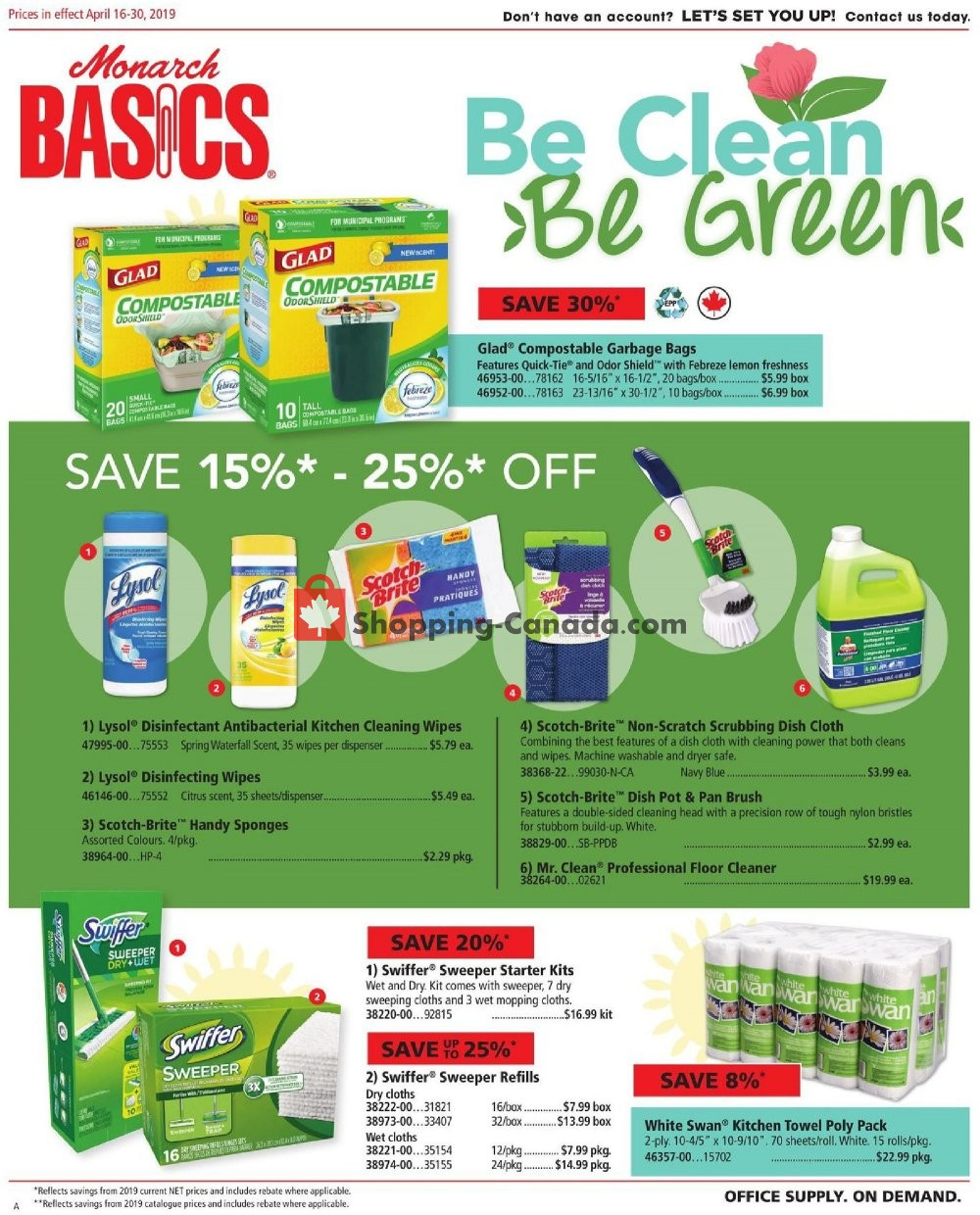 Flyer Basics Office Products Canada - from Tuesday April 16, 2019 to Tuesday April 30, 2019