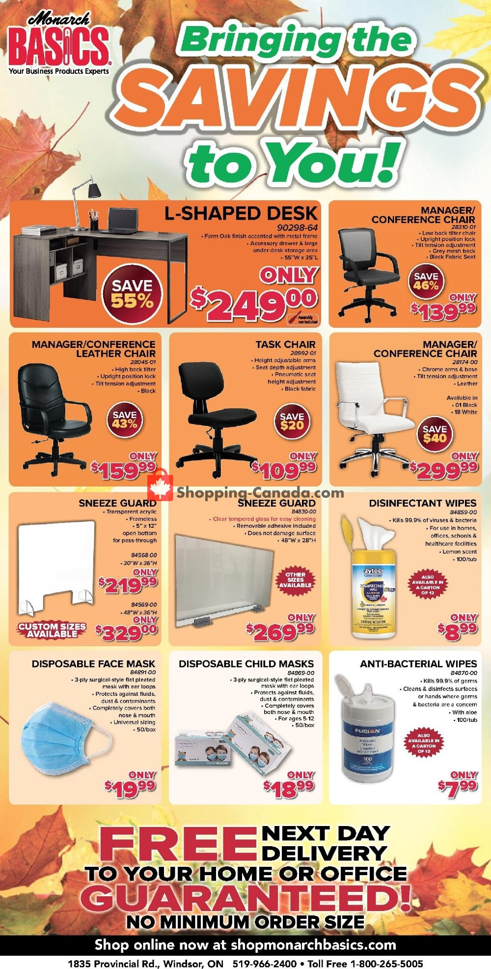Flyer Basics Office Products Canada - from Friday October 16, 2020 to Sunday November 15, 2020