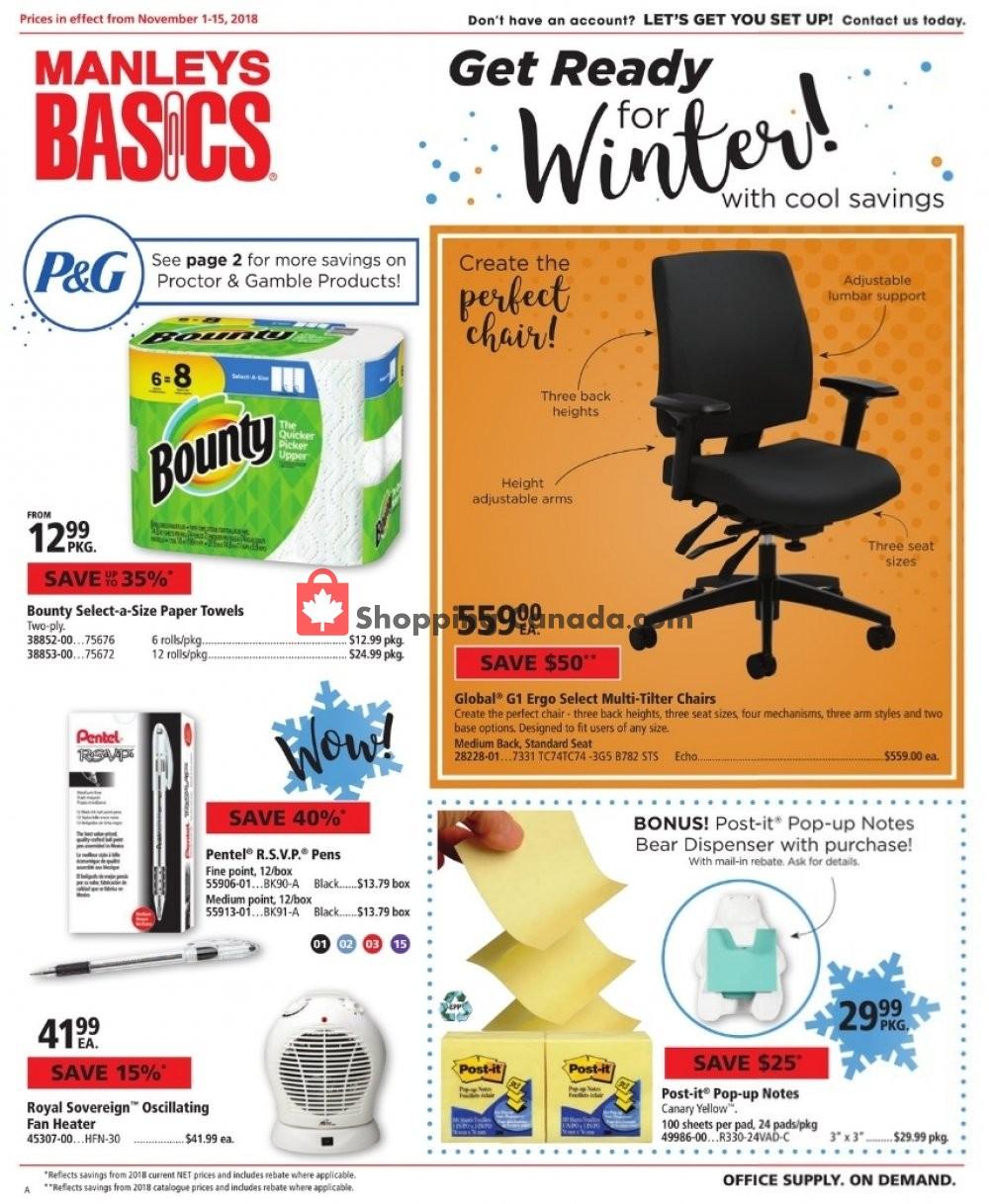 Flyer Basics Office Products Canada - from Thursday November 1, 2018 to Thursday November 15, 2018