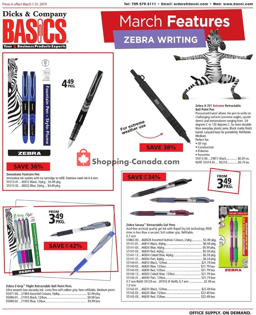 Flyer Basics Office Products Canada - from Friday March 1, 2019 to Sunday March 31, 2019