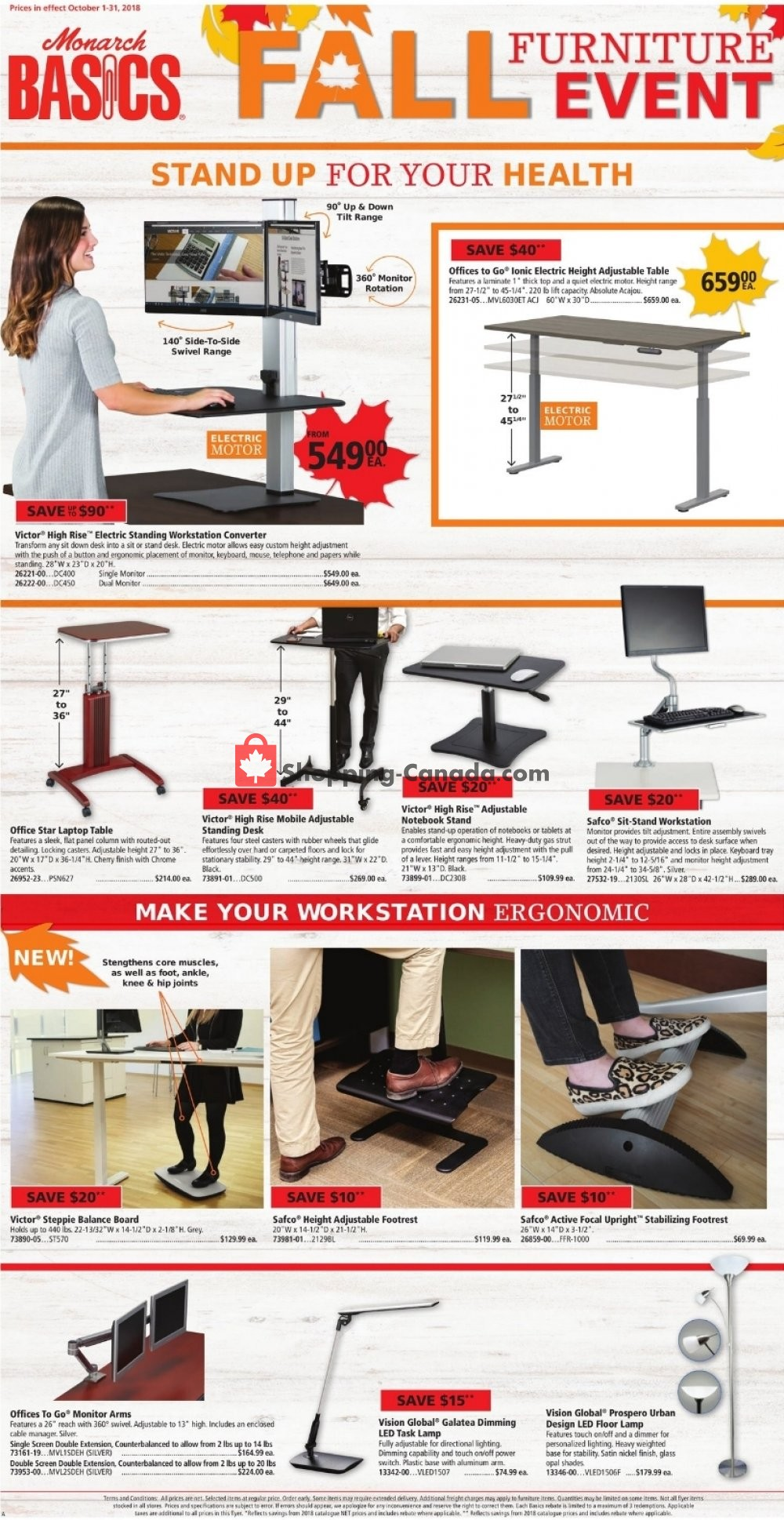 Flyer Basics Office Products Canada - from Monday October 1, 2018 to Wednesday October 31, 2018