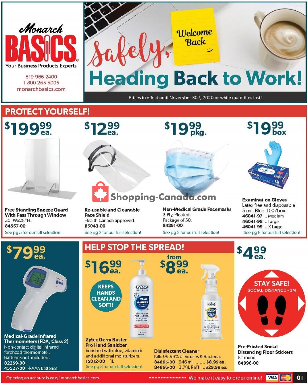 Flyer Basics Office Products Canada - from Friday October 16, 2020 to Monday November 30, 2020