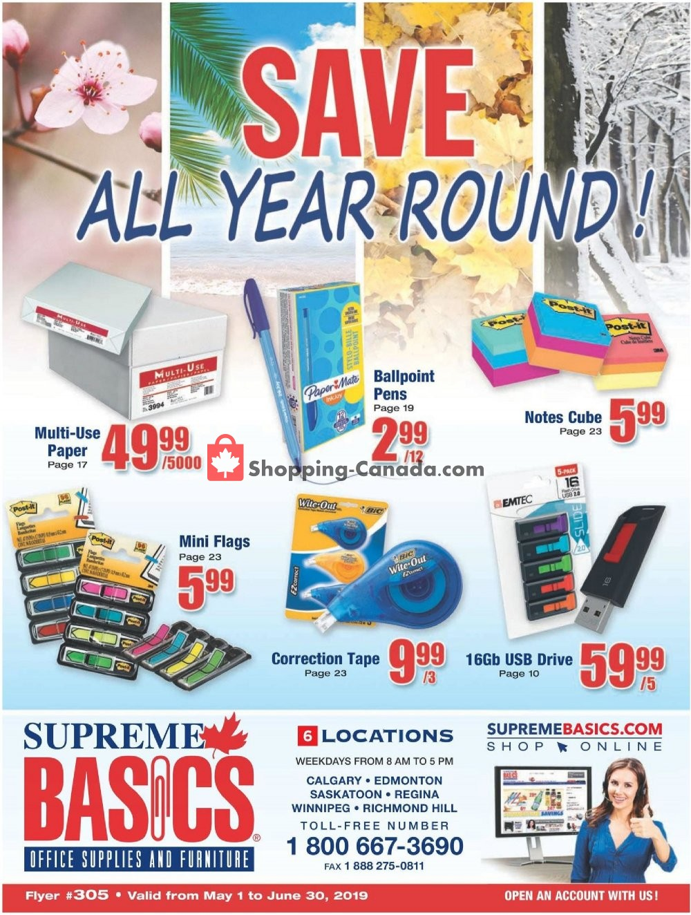 Flyer Basics Office Products Canada - from Wednesday May 1, 2019 to Sunday June 30, 2019