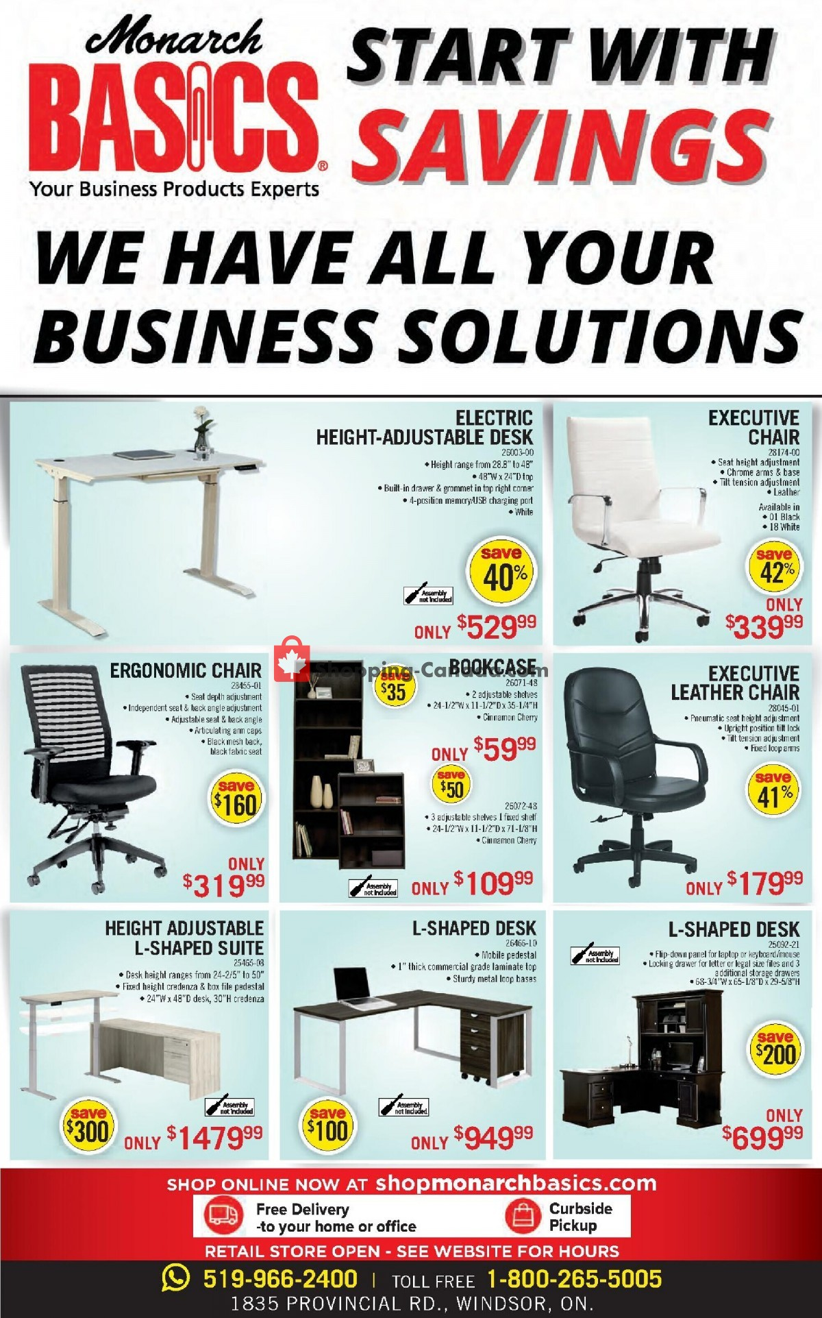 Flyer Basics Office Products Canada - from Monday September 13, 2021 to Thursday September 30, 2021