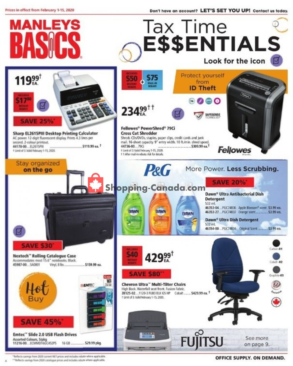 Flyer Basics Office Products Canada - from Saturday February 1, 2020 to Saturday February 15, 2020